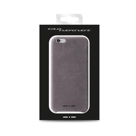 Etui Italia Independent Velvet - iPhone 6 - Szare