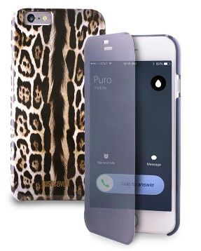 Etui Just Cavalli Leopard w/Quick View & Answer Apple iPhone 6