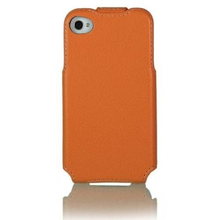 Etui Stilgut - Slim Case - mandarynkowe - iPhone 4 i 4S