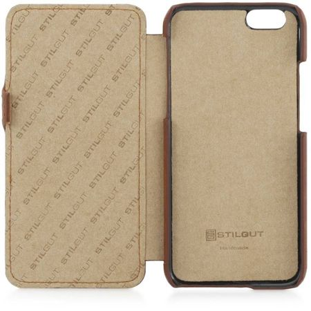 Etui Stilgut UltraSlim Book Apple iPhone 6 / 6S Koniakowe