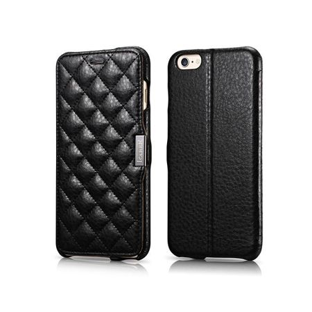Etui iCarer Check Apple iPhone 6 Plus / 6S Plus Czarne
