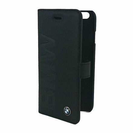 Etui z klapką BMW Signature Collection Debossed Logo Book Case - czarne - iPhone 6/6S