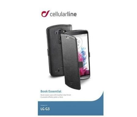 Etui z klapką Cellular Line BOOK ESSENTIAL do LG G3, czarne