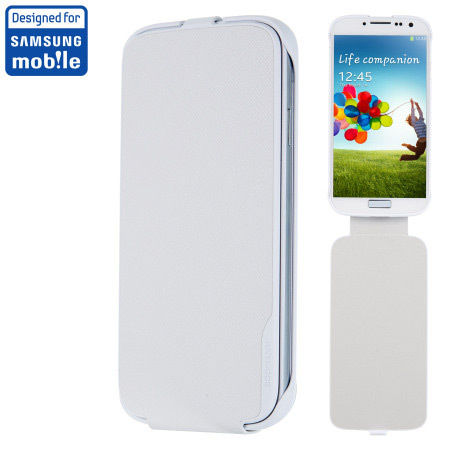 Etui z klapką Samsung Galaxy S4 i9500 / i9505 - białe - Made for Samsung Vertical Flip Case