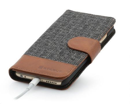 Etui z klapką StilGut Talis Fashion 01 - koniakowe - iPhone 6 4.7""