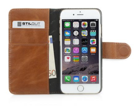 Etui z klapką StilGut Talis Fashion 04 - koniakowe - iPhone 6 Plus
