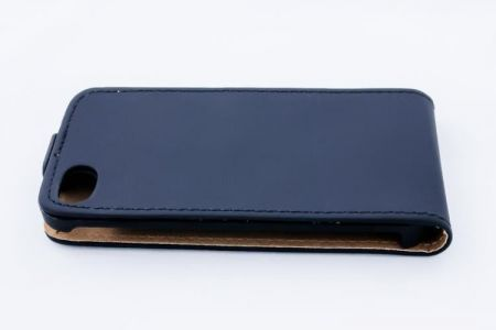 Geffy - Etui iPhone 4/4S Eco Leather flip black