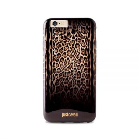 JUST CAVALLI Leopard Double Cover - Etui iPhone 6 (brązowy)