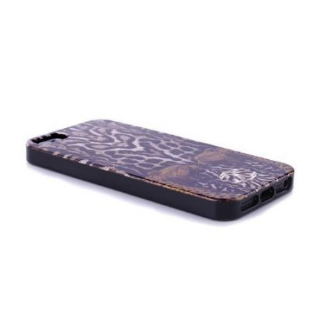 JUST CAVALLI Leopard Tiger Cover - Etui iPhone 5/5S (czarny)
