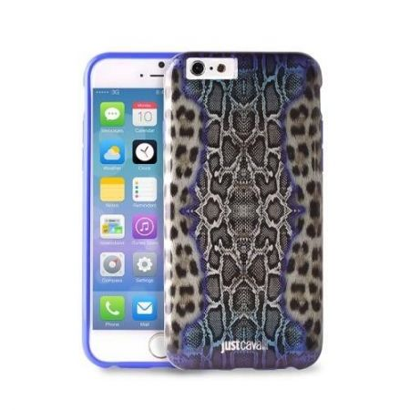 JUST CAVALLI Python Leopard Cover - Etui iPhone 6 (niebieski)