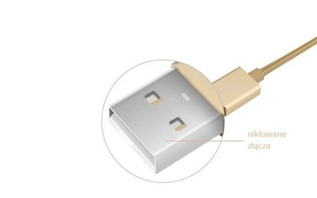 Kabel JCPAL Lightning na USB 1,5m dla Apple Złoty