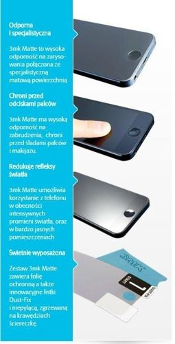 Matowa Folia ochronna 3mk MATTE do Samsung Galaxy NOTE GT-N7000