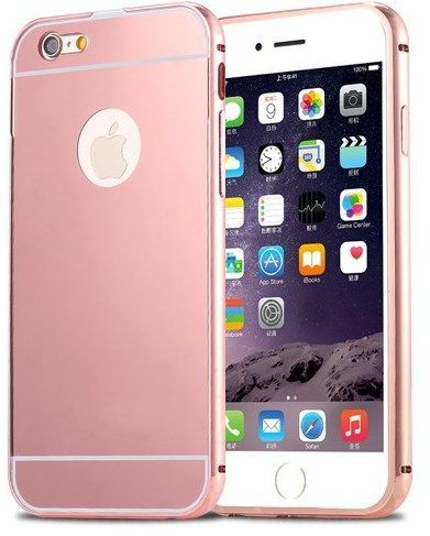 Mirror Bumper Metal Case Różówy | Etui dla Apple iPhone 5 / 5S / 5SE