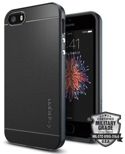 Obudowa Spigen Neo Hybrid Carbon Apple iPhone 5 / 5S / SE Metal Slate