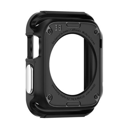 Obudowa Spigen Rugged Armor Apple Watch 42 mm Czarna + 2 folie ochronne