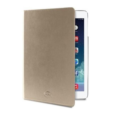 PURO Booklet Slim Case - Etui iPad Air 2 w/Magnet & Stand up (złoty)