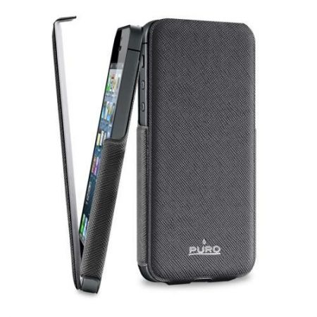 PURO Flipper Ultra Slim - Etui z klapką iPhone 5 5S (czarny)