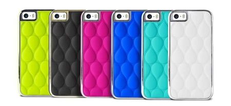PURO GLAM Drop Matellasse - Etui iPhone 5 / 5S / 5SE (biały)