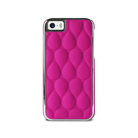 PURO GLAM Drop Matellasse - Etui iPhone 5 / 5S / 5SE (różowy)