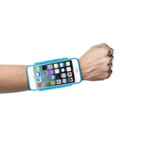 "PURO Running Band - Frotka do biegania z etui iPhone 6 4.7"" + key pocket (niebieski)"