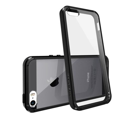 Rearth Ringke Fusion Black + Folia | Etui dla Apple iPhone 5 / 5S / 5SE