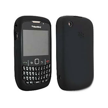 Silikonowa obudowa BlackBerry Silicon Case - czarna - BlackBerry 8520, 9300