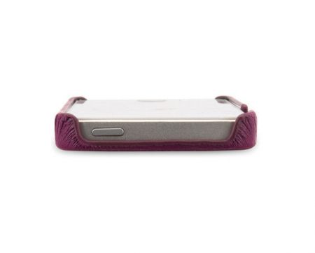 Skórzana obudowa Apple iPhone 5 5S - purpurowa - Stilgut Cover