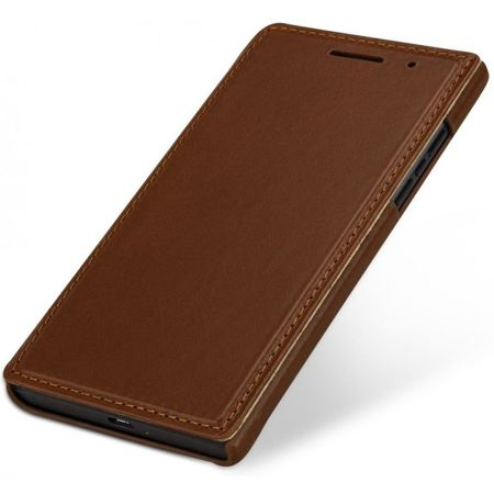 Skórzane etui Stilgut Book Blackberry Leap Cognac