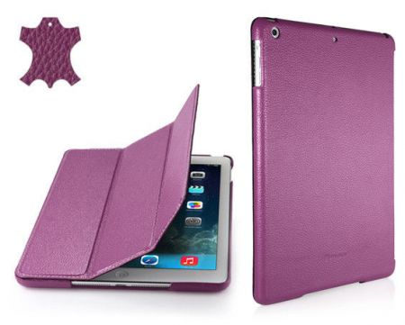 Skórzane etui Stilgut Couverture - purpurowe - iPad Air