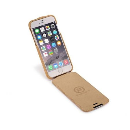 Skórzane etui iCarer Warrior Prestige Carmel | Apple iPhone 6 / 6S
