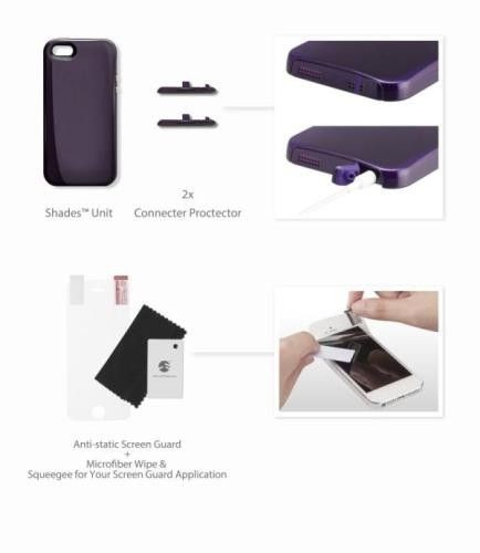 SwitchEasy SHADES - Etui iPhone 5/5S + folie ochronne (zielony)