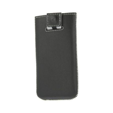 Valenta Pocket Stripe Black 20 - Etui skóra iPhone 5/5S/5C (czarny)