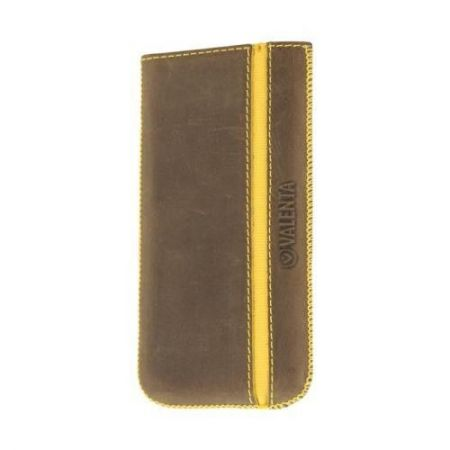 Valenta Pocket Stripe Vintage Brown - Etui skóra iPhone 5 / 5S / 5SE / 5C (brązowy)