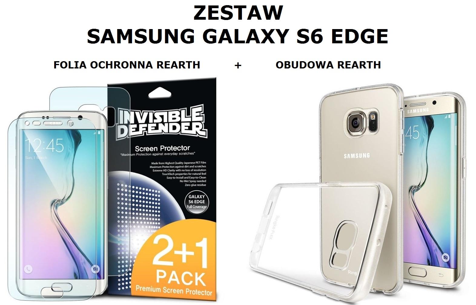 Zestaw Rearth Obudowa Ringke Flex 3 Folie Ochronne Galaxy S8 Invisible Defender Screen Protector Rewelacyjny