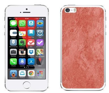 Apple iPhone 5 / 5S / SE - etui na telefon - Kolekcja marmur - marble red - H26