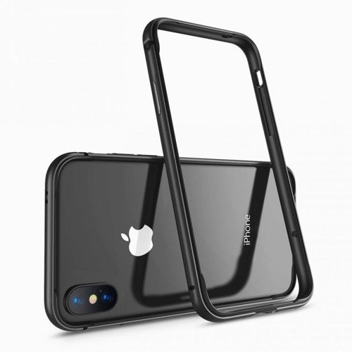 Benks AluBumper Black | Solidny bumper dla Apple iPhone X / 10