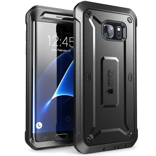 ETUI SUPCASE UNICORN BEETLE PRO  SAMSUNG GALAXY S7 EDGE  - BLACK