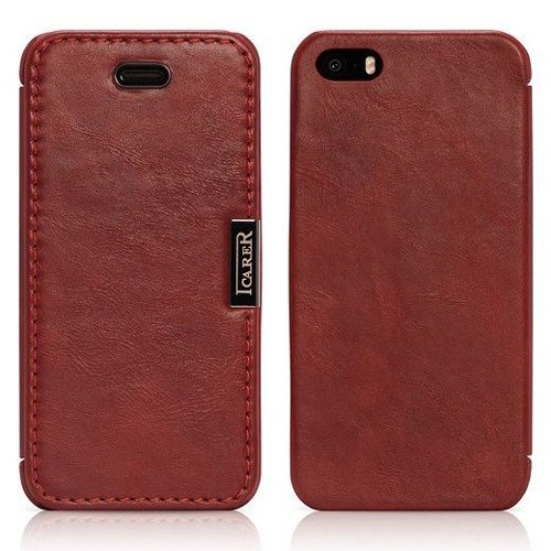 Etui ICARER Vintage Red | Apple iPhone 5S / SE