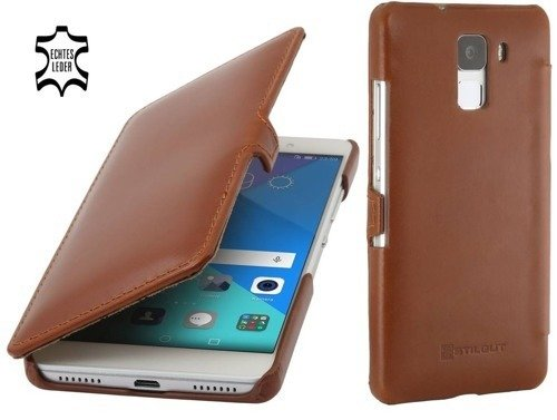 Etui Stilgut UltraSlim Book Huawei Honor 7 Koniakowe