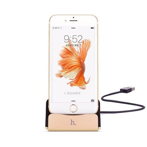 Hoco CPH18 Lightning Dock Charging Gold | Stacja dokująca dla Apple iPhone