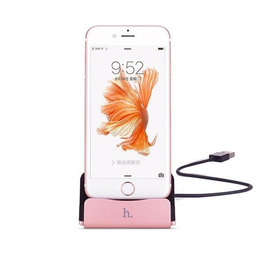 Hoco CPH18 Lightning Dock Charging Rose Gold | Stacja dokująca dla Apple iPhone