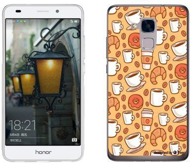 Huawei Honor 7 Lite - etui na telefon - Kolekcja boho - lunch time - J74