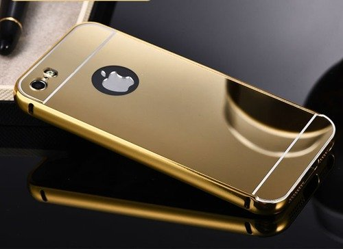 Mirror Bumper Metal Case Złoty | Etui dla Apple iPhone 6 Plus / 6S Plus