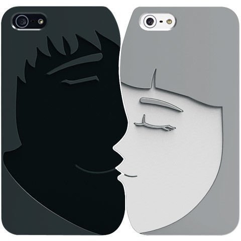Obudowy Ozaki O!Coat Lover+ Romantic OC532RC metal black/silver | Apple iPhone 5 / 5S / SE