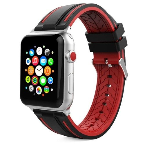 Pasek Tech-Protect Fendy Black / Red do Apple Watch 1/2/3 (42MM)