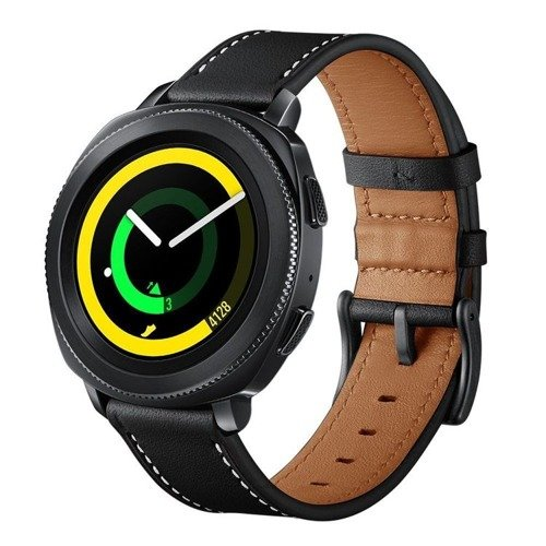 Pasek Tech-Protect Herms Black do Samsung Gear S2 Classic / Sport