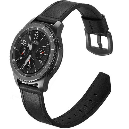 Pasek Tech-Protect Leather Black do Samsung Gear S3