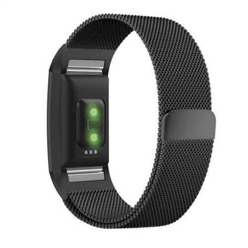 Pasek Tech-Protect MilaneseBand Black do Fitbit Charge 2