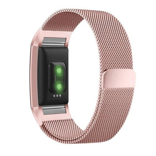 Pasek Tech-Protect MilaneseBand Rose Gold do Fitbit Charge 2