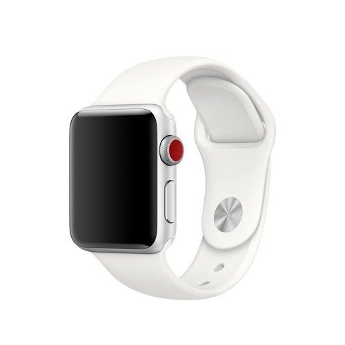 Pasek Tech-Protect Smoothband White do Apple Watch 1 / 2 / 3 (38mm)